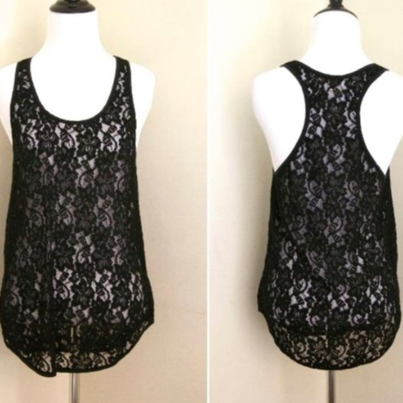 Wilfred Tops - Aritzia Wilfred Madeline Lace Racerback Tank Top